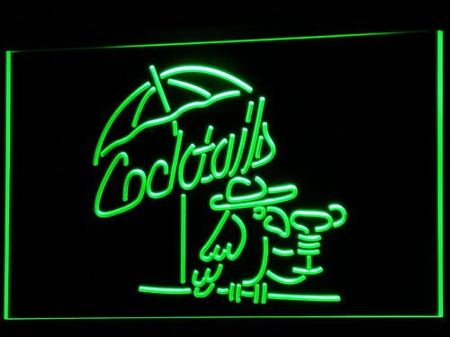 ADV-PRO-i337-g-Cocktails-Parrot-Bar-Pub-Club-NR-Neon-Light-Sign