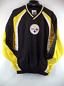 Pittsburgh Steelers Light Weight Pullover Track Jacket/Windbreaker from NFL Products