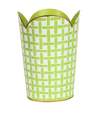 Jayes Basketweave Tulip Wastebasket, Green