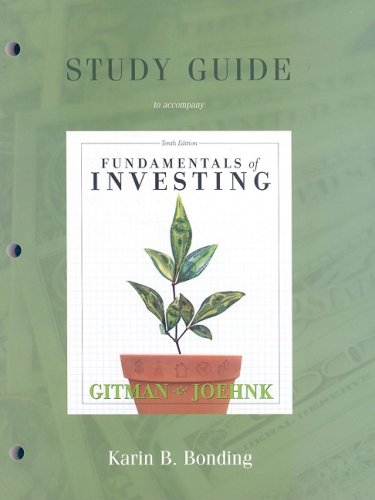 Study Guide for Fundamentals of Investing