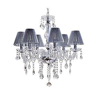 Lampadario di cristallo con 6 luci illuminazione for Lampadario amazon