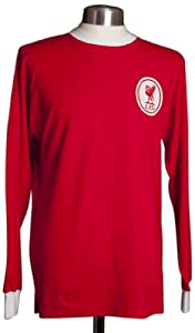 Score Draw Official Retro Men's Liverpool 1964 Long Sleeve Shirt - Red, Small