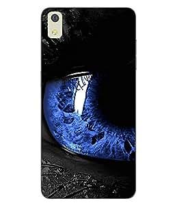 Make My Print Eyes Printed Black Hard Back Cover For LYF WATER 8