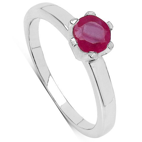 2.03 Carat Genuine Ruby Cluster Sterling Silver Ring