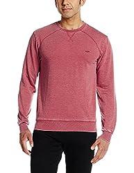 People Men's Synthetic Sweatshirt (8907496108628_P10101359439108_Medium_Rust Red)