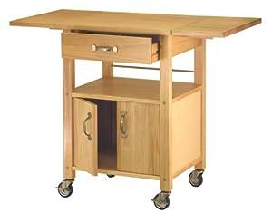 Winsome Wood Drop Leaf Kitchen Cart Serving Carts