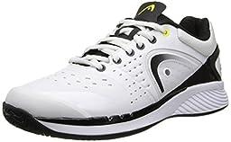 Head Men\'s Sprint Pro Court Shoe,White/Black,9 M US