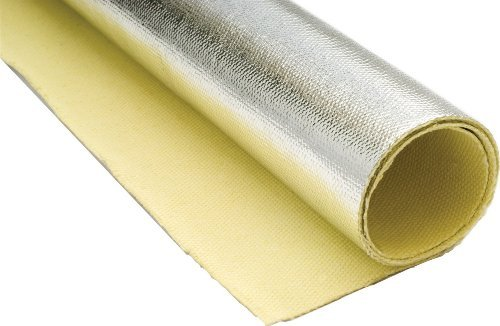 "Thermo-Tec 16850 26"" X 40"" Kevlar Heat Barrier The Product Can Be Installed Using Standard Rivets With A Backup Washer Or Weather Strip Adhesive The Use Of Clamps Or Straps Such As Thermo-Tec'S Snap Strap Can Be Used To Hold The Blanket In Place For Appli"