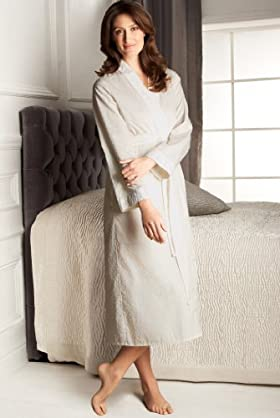 Portfolio Pure Cotton Broderie Wrap Dressing Gown