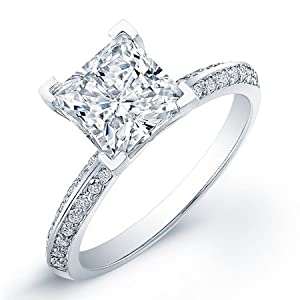 certified 1.40 ct round cut diamond wedding engagement anniversary bridal ring