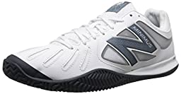New Balance Men\'s MC60V1 Tennis Shoe, White/Black, 11.5 2E US