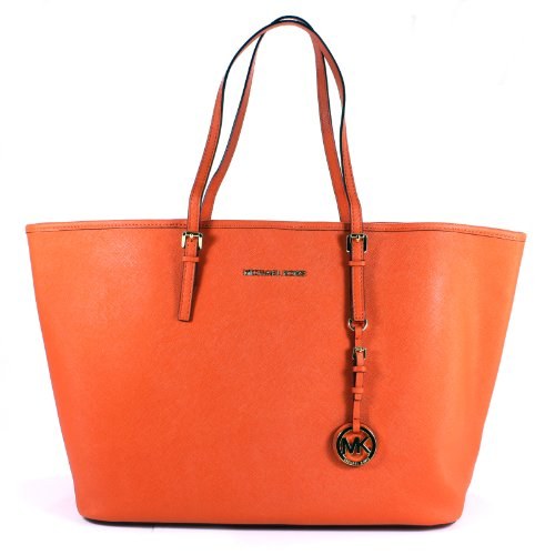 Michael Kors Jet Set Medium Travel Tote Tangerine