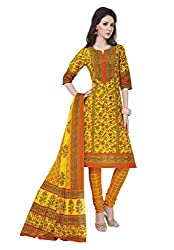 Salwar Studio Multicolor & Orange Cotton Dress Material With Dupatta RangResham-1820