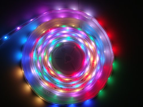16.4Ft 5M 5050 150Leds Water-Resistant Rgb Dream Color 6803 Ic Led Strip Light Waterproof & 133 Color Changing(Power Suppy And Controller Not Included)