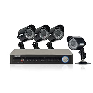 Lorex ECO 4 Channel Security DVR with 4 Indoor/Outdoor Security Cameras
