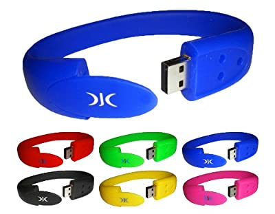 WRISTBAND USB FLASH MEMORY STICK PEN DRIVE 8GB - Comes in a variety of colours - FANTASTIC PRESENT from DJC Electronics