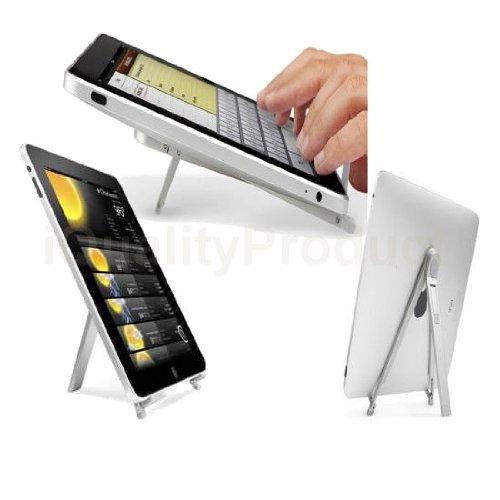 Premium Portable Folding Metal Desk Stand for Tablets Acer Amazon Asus Dell Fujitsu Gateway HP iPad Lenovo LG Motorola MSI Samsung Sony Toshiba ViewSonic etc.