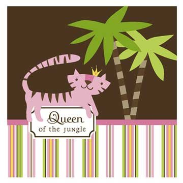 Queen Of The Jungle Lunch Napkins 16Ct