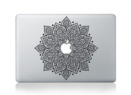 Henna Flower Tattoo Macbook Pro/ Air Sticker Decal Vinyl Skin Design By Mac Tatt! Customize Your Apple Computer Laptop! (Mac Apple Decal compare prices)