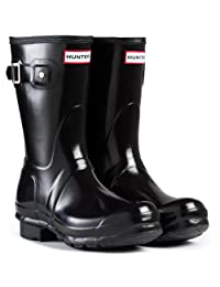 Womens Hunter Original Short Gloss Wellingtons Winter Snow Rain Boots