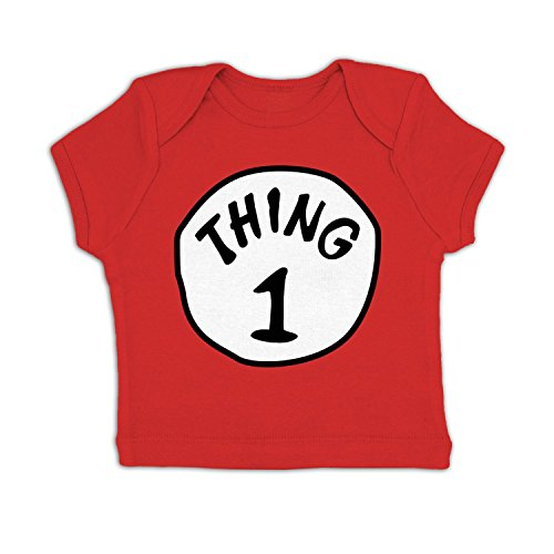 Thing 1 Costume Baby T-shirt - Red 6-12 Months (Twin Girl Costumes)