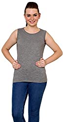Finesse Women's Regular Fit Top (FCBT01, Grey, Small)