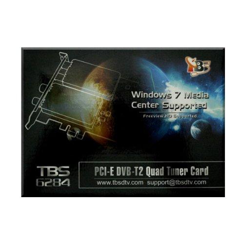 TBS PCI-E DVB-T2 Quad TV Tuner Card High Definition Digital Free to Air Tuner (DVB-T/DVB-T2) Receiver - TBS6284