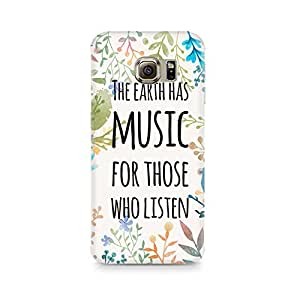 Motivatebox - Music of Earth Samsung S6 Edge G9250 cover - Polycarbonate 3D Hard case protective back cover. Premium Quality designer Printed 3D Matte finish hard case back cover.