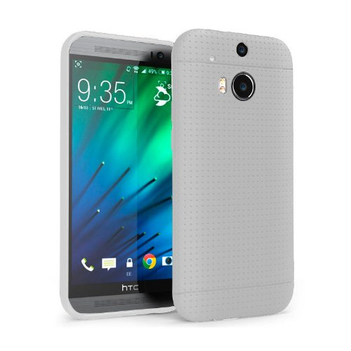 Chivel (Tm) Premium Slim Fit Soft Tpu Protector Case For New Htc One Smartphone (M8, White Dot)