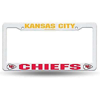 NFL Kansas City Chiefs Plastic License Plate Frame - White