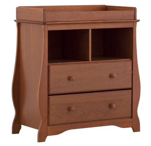 Stork Craft Carrara 2 Drawer Change Table, Oak front-1031879