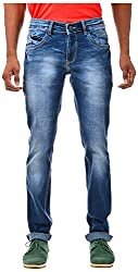 Casinova Men's Slim Fit Jeans (CJ_312A-32, Light Blue, 32)