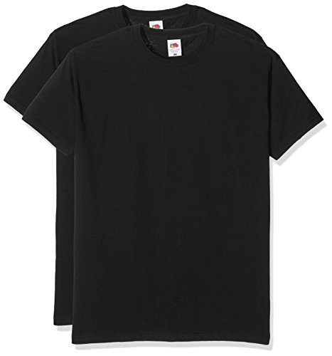 fruit-of-the-loom-valueweight-t-camiseta-para-hombre-paquete-de-2-color-negro-talla-xl