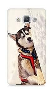 Amez designer printed 3d premium high quality back case cover for Samsung Galaxy A5 (Dog 6)