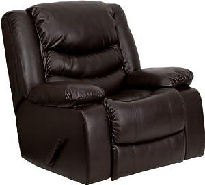 Flash Furniture MEN-DA3439-91-BRN-GG Dark Brown Leather Rocker Recliner