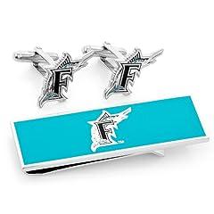 Florida Marlins Cufflinks and Money Clip Gift Set by Cufflinks Inc