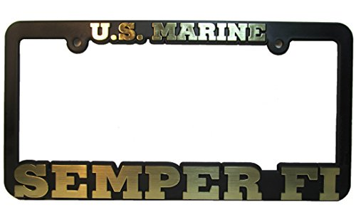 US Marine SEMPER FI Auto License Plate Frame USMC (License Plate Frames Military compare prices)
