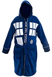 Doctor Who Tardis Front Terrycloth Robe, One Size