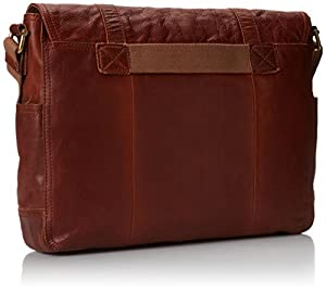 Fossil Men's Ledger Leather EW Messenger Bag from Fossil Men's Accessories