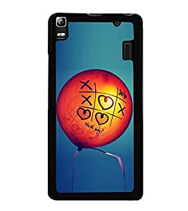 Love Balloon 2D Hard Polycarbonate Designer Back Case Cover for Lenovo A7000 :: Lenovo A7000 Plus :: Lenovo K3 Note