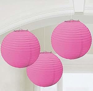 Amscan Bright Pink Paper Lanterns