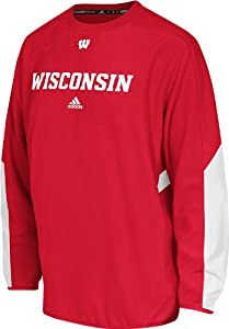 adidas Wisconsin Badgers Adult Sideline Long Sleeve Crew Shirt by adidas
