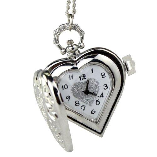 Zps Vintage Steampunk Heart Harry Potter Locket Style Pendant Pocket Watch Necklace