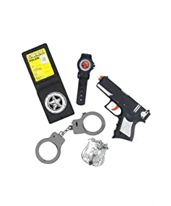 Générique - 350619 - Kit Policier Enfant - Taille Unique