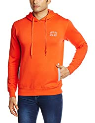 Proline Men's Cotton Sweatshirt (8907007203774_PC09913J_Medium_Orange)