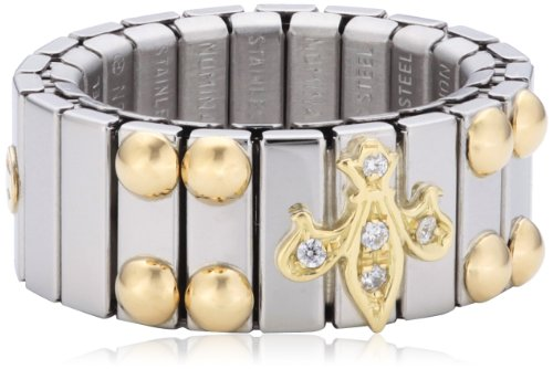 Nomination Damen-Ring Mittel Mit Lilie Ring größe variabel 040220/007