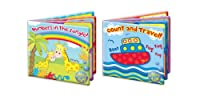 "Bath Book Baby Pack of 2 Floating Educational & Fun Bath Toy ""First Steps"""