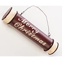 Merry Christmas Rustic Metal Keepsakes or Santa Note Holder Ornament