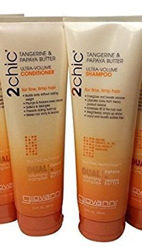 giovanni-2-chic-tangerine-papaya-mantequilla-champu-acondicionador-set
