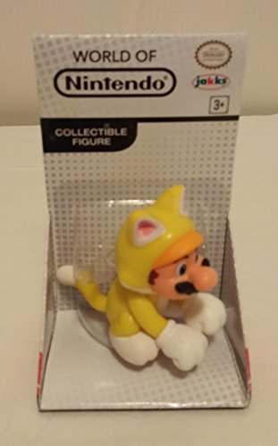 "World of Nintendo Cat Mario Collectible Figure jakks 2.5"" Super Mario Bros"